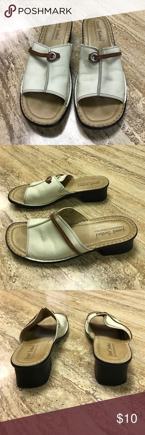 Off white and black clogs Women's size 41(11). Josef Seibel clogs. Has some scuffs on top but little wear to soles!  A01/34 Josef Seibel Shoes Mules & Clogs