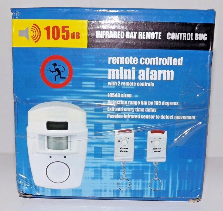 Dual Remote Controlled Infrared Wireless Mini Dog Alarm Door 105db Home Security #Unbranded