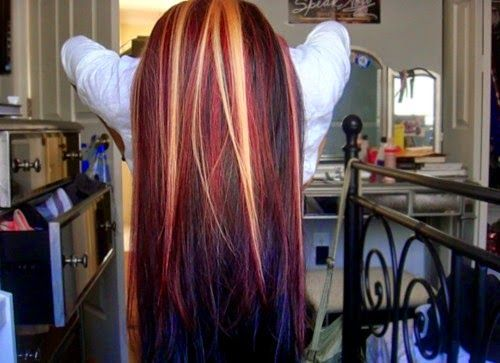 Red And Black Platinum Highlights - Google Search
