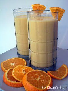 Healthy Meals Monday: Orange Julius with Banana | Six Sisters' Stuff
