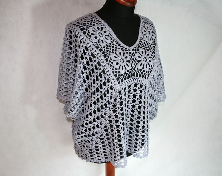 Free Crochet Pattern For Poncho Sweater : SzydeLkowe prace: pattern of crochet poncho (free ...