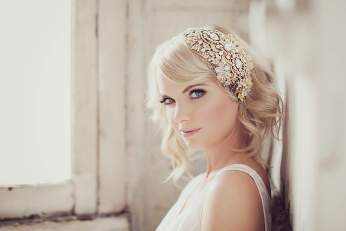 hollywood glam old new orleans wedding | ... and crystal headpiece vintage inspired style old Hollywood glamour