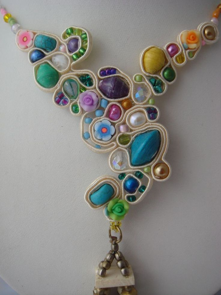 Great way to combine beads of all different sizes, shapes and colors. Makes a very unique design.