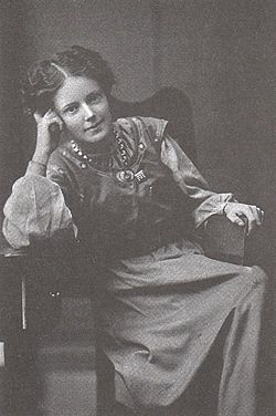 Mary Gawthorpe (1881-1973) British suffragette and trade unionist, strongly involved in the Women's Social and Political Union in Leeds. She was imprisoned a number of times and badly beaten for her political activities. Later she co-edited The Freewoman: A Weekly Feminist Review.