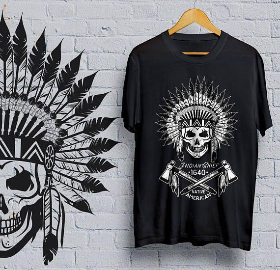 Indian Skull T-shirt  shirt  skull  tattoo  hipster