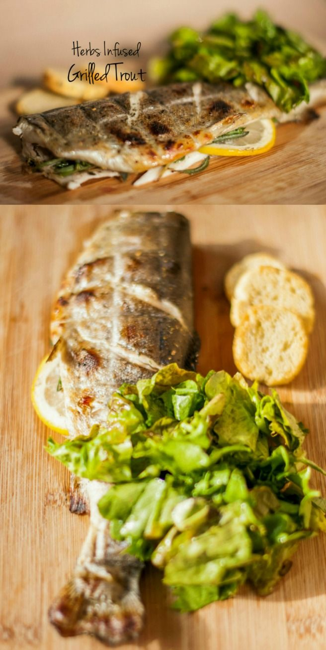 Herbs Infused Grilled Trout