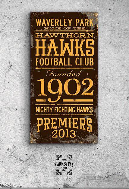Hawthorn Hawks PREMIERS 2013 Canvas Print