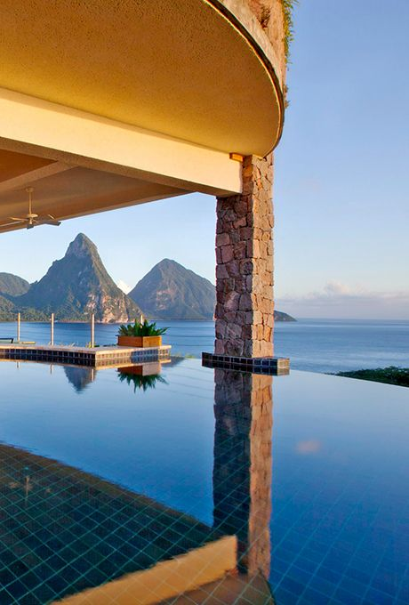Brides.com: . Jade Mountain in St. Lucia. Every room at this epically sexy…