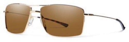 Smith Metal Navigator Sunglasses 59 0AOZ Semi Matte Gold (IN graygreen polarized lens)