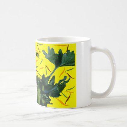 Hope Philodendron natural plant decorated mug -nature diy customize sprecial design