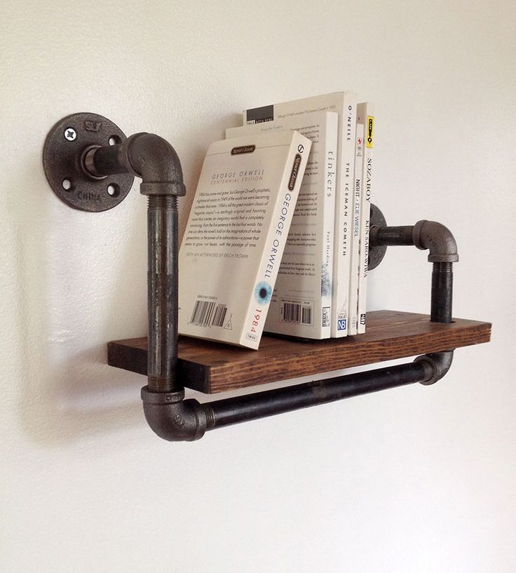 Reclaimed Wood amp Pipe Book Shelf Small Industrial Bookshelf And Modern Industrial
