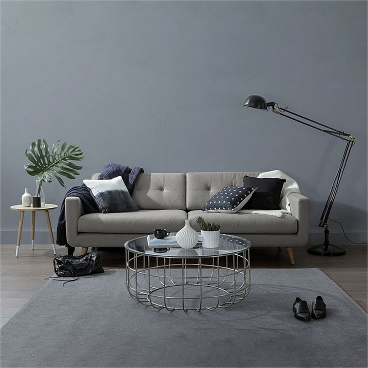 Larsen Light Grey 3 Seater Sofa by Zanui | Zanui