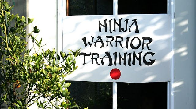 ninja warrior training sign.