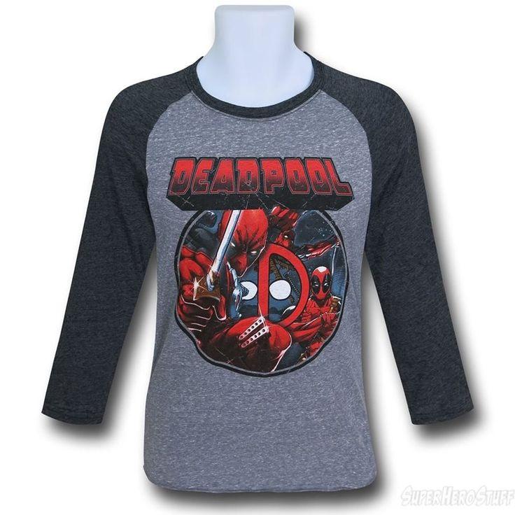 Deadpool Image Circle Raglan T-Shirt
