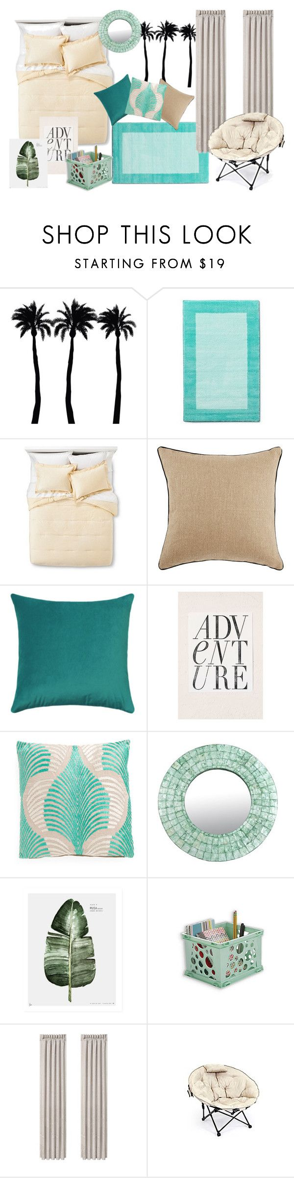 Threshold home decor shop for threshold home decor on polyvore -  Themed Dorm Beach Paradise By Bncollege On Polyvore Featuring Interior Interiors