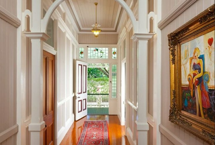 This is hall inside the Queensland home- amazing woodwork. Oliveaux