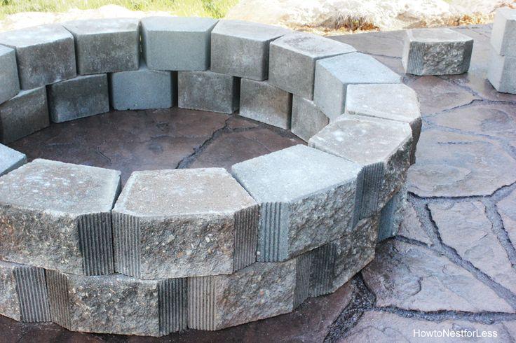 Best 25 patio fire pits ideas on pinterest backyard for Fire pit on concrete slab