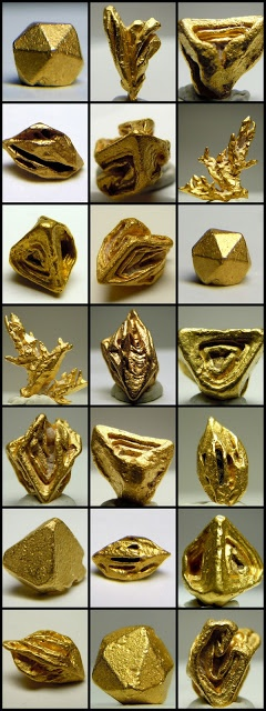 Natural Forms of Gold (Au)