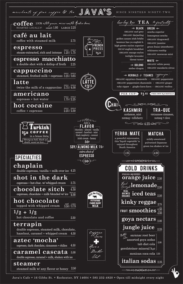 30 Buenos ejemplos de diseños de menús para restaurantes y bares | TodoGraphicDesign (Móvil)
