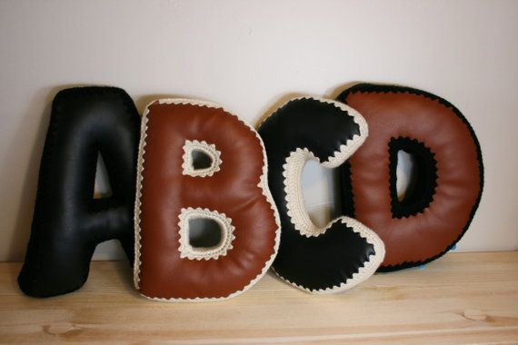 1 CUSTOM Alphabet Letter Pillow Accent by JoyfulHouseDesigns ETSY