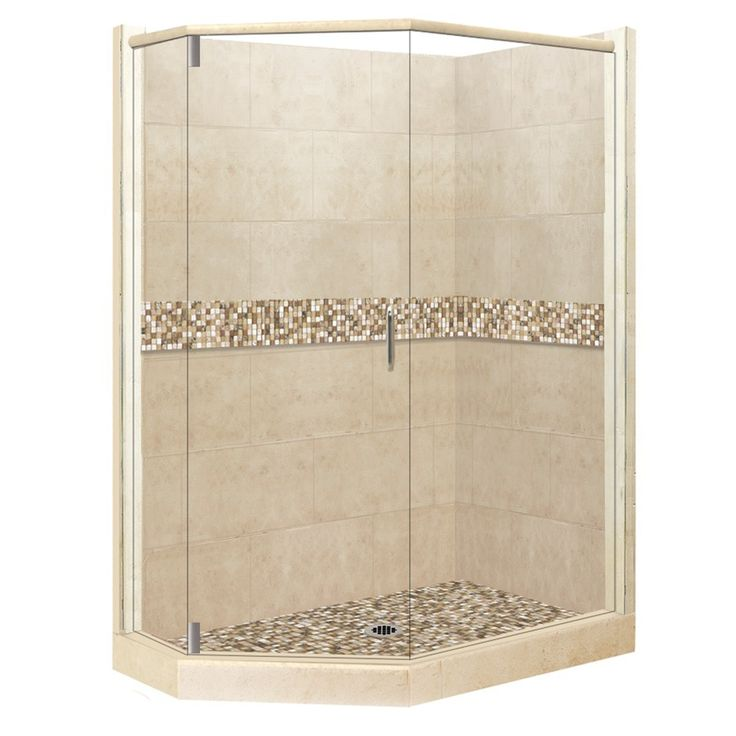 american bath factory mesa medium with mesa mosaic tiles sistine stone wall stone composite floor neoangle 10piece cor corner shower kitscorner
