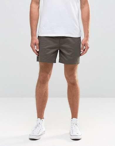 Prezzi e Sconti: #Asos chino corti slim verde scuro taglia W30 w34 w32 w26 w38  ad Euro 23.99 in #Asos #Male per prodotto pantaloncini