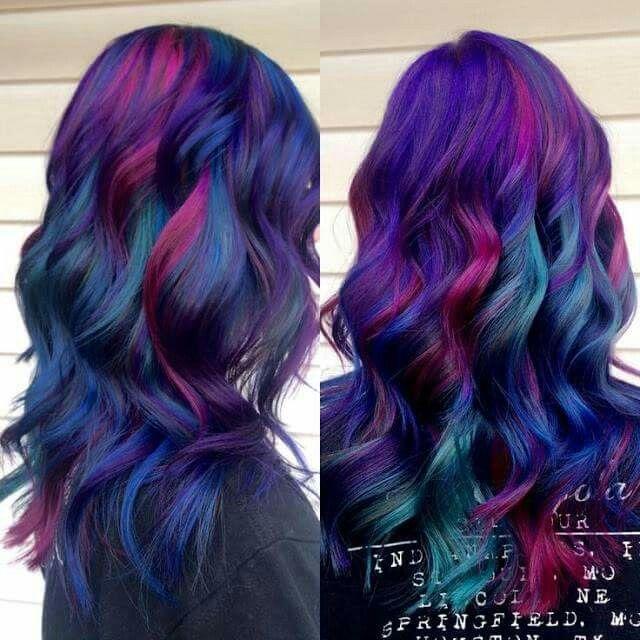 Sand art blue, purple, pink