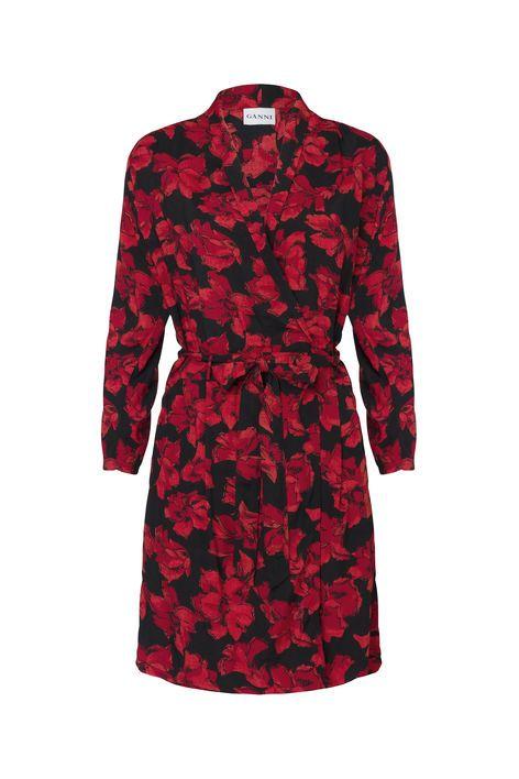 Ganni. Coney Island Dress, Twilight Flowers