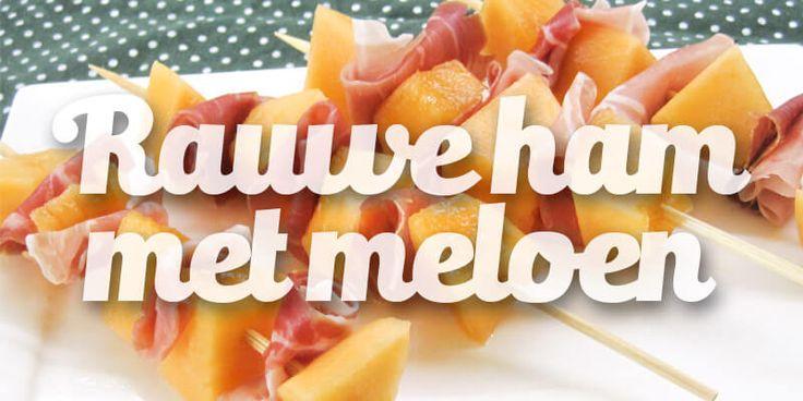 Rauwe ham met meloen - Powered by @ultimaterecipe
