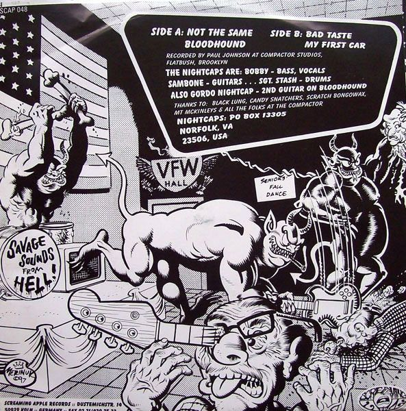Darren Merinuk For Big Bobby And The Nightcaps   Not The Same  #contraportadavinilo #backcovervinyl