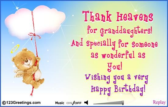 Free Granddaughter Birthday Cards For Granddaughters