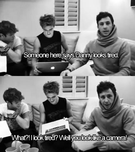 Danny jones >> ever the comedian
