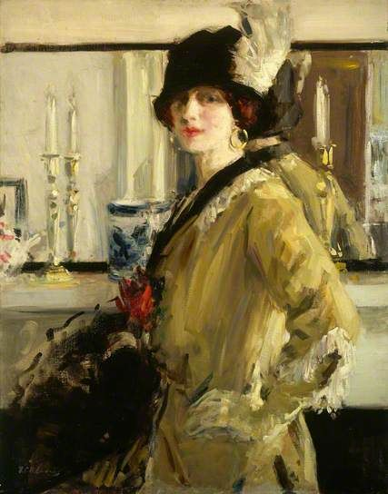 The Black Hat by Cadell, one of the Scottish colourists. Think this is lovely.