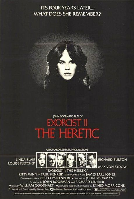 Exorcist II: The Heretic (1977) - Conceived as a sequel to The Exorcist, The Heretic was the big commercial disaster of Boorman's career, disappointing audience expectations of the gruesome effects of the original and providing instead a metaphysical thriller. Science and religion, a psychiatrist and a priest combine efforts to save a sick child while, in the heart of Africa, a magician offers an answer. Shot on spectacular sets, the film is reminiscent of the great German Expressionist…