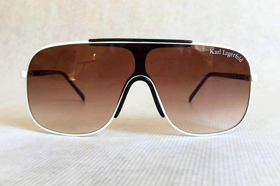 Karl Lagerfeld S 1 58 Blanc Vintage Sunglasses - New Unworn Deadstock