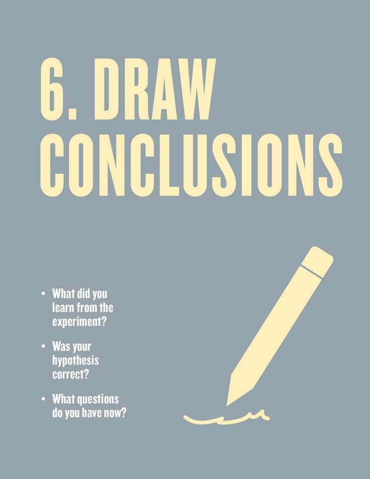 Free Scientific Method Posters for the Classroom. Step 6: Draw Conclusions. From Scholastic Instructor magazine.