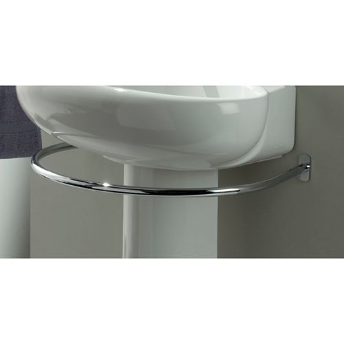 Brilliant Idea For A Pedestal Sink Towel Rack That Goes Around The Way To Go Home In 2019 Rail
