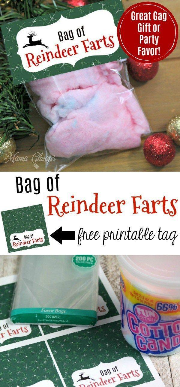 Bag of Reindeer Farts Free Printable Tags