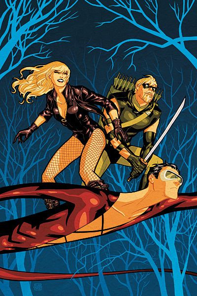 Plastic Man, Green Arrow, and Black Canary