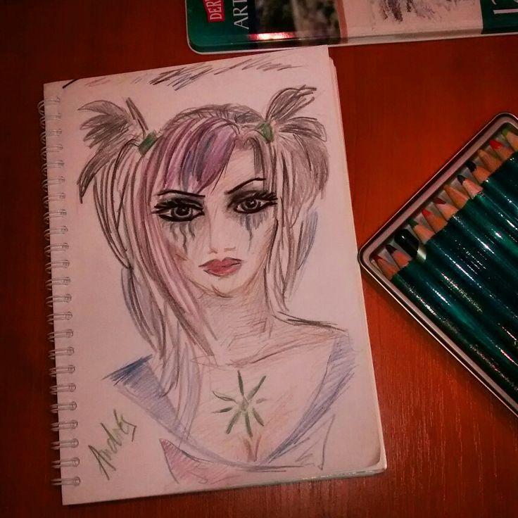 Sad lady. #desenez #pencils #artwork #mythoughtsonpaper