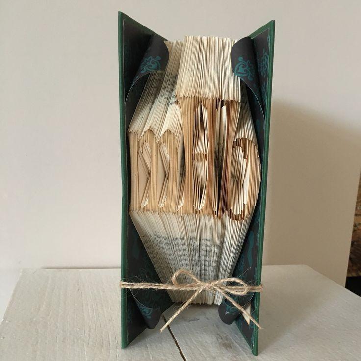Book folding initials....