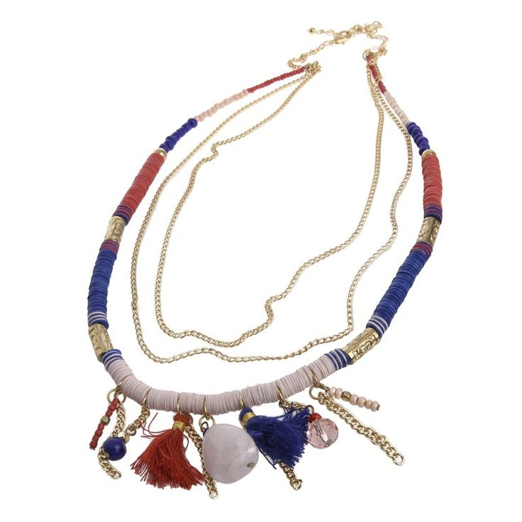 COLORFUL NECKLACE WITH TASSELS - Necklaces - Jewellery - Accessories