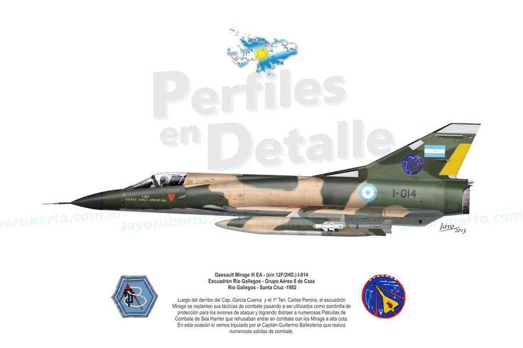 Dassault Mirage III EA - (c/n 12F/2HD.) I-014 Escuadrón Rio Gallegos - Grupo Aéreo 8 de Caza – Río Gallegos - Santa Cruz -1982