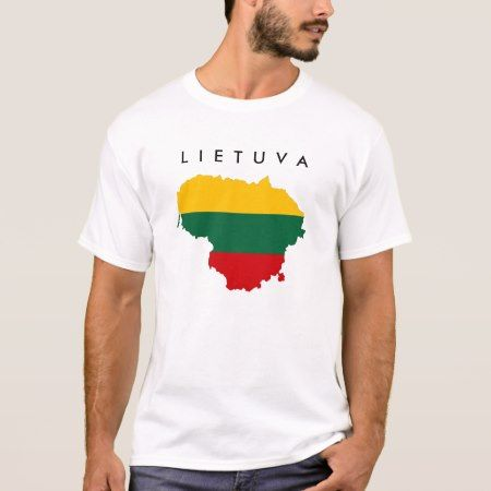 lithuania country flag map shape symbol T-Shirt - tap, personalize, buy right now!