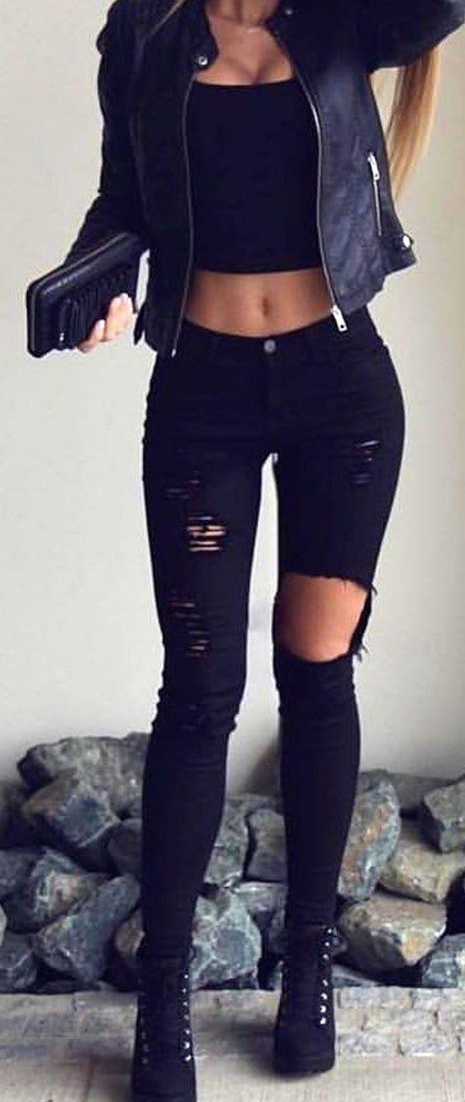 Schwarzes Crop Top Crop Tops sind absolut fantastisch. Sie passen zu … – Sommer Outfits