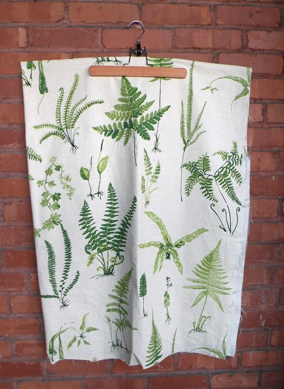 Botanical Fern Print Fabric