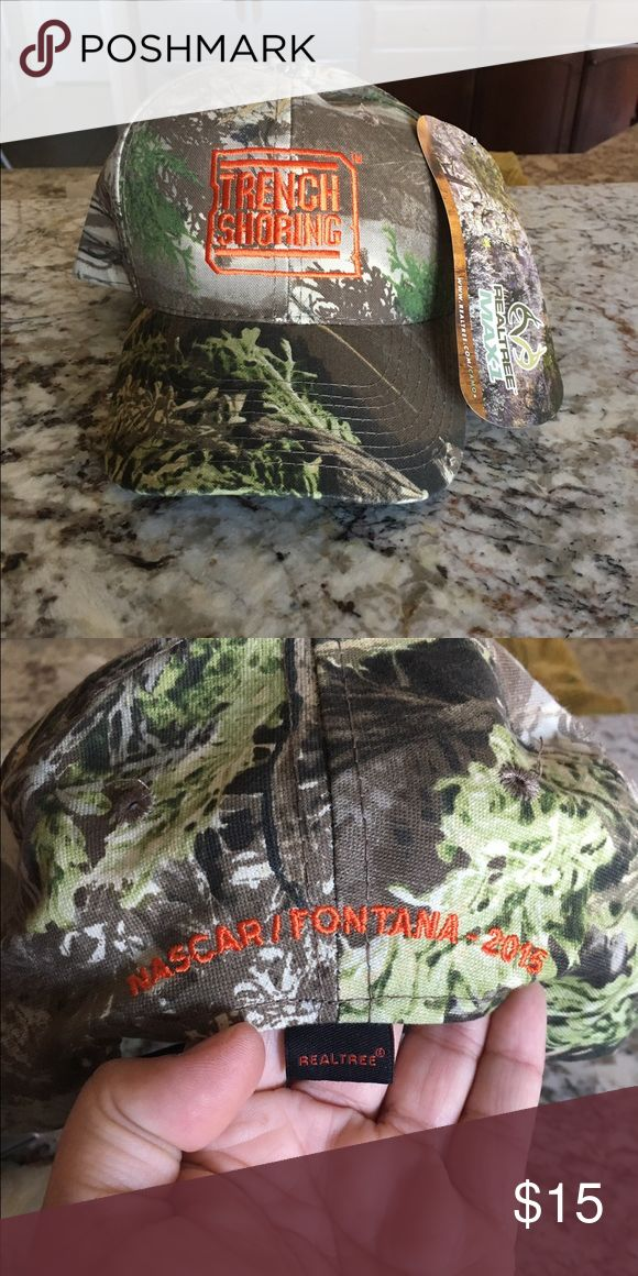 Camo Trench Shoring NASCAR hat Camo hat from the Fontana NASCAR race... brand new tags still attached Accessories Hats
