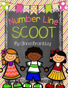 Number Line Scoot--- Free whole group game to practice number line skills