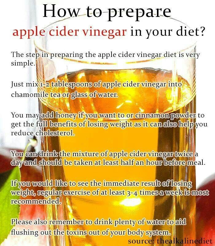 Apple cider vinegar use