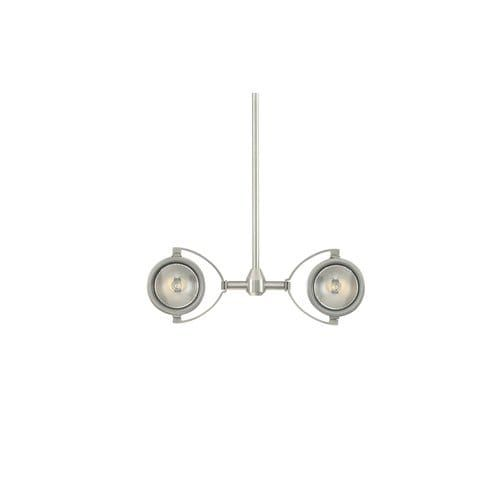 Tech Lighting 700MO2ELT24 Two-Circuit MonoRail Elton Dual Low-Voltage Head with 24 Stem (Satin Nickel - Nickel Finish)
